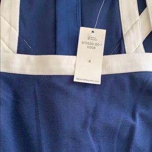 Banana Republic Blue and White Dress Size 8